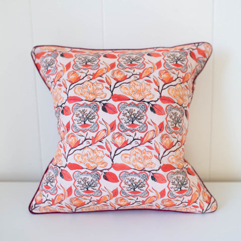 Magnolia Pillow in Peach