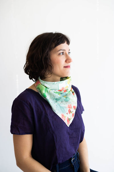 Secret Garden Bandana in Mint