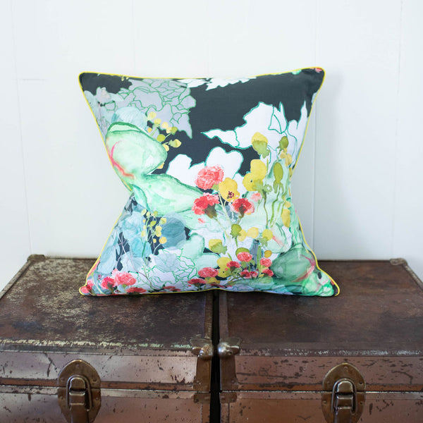 Secret Garden Pillow in Forest