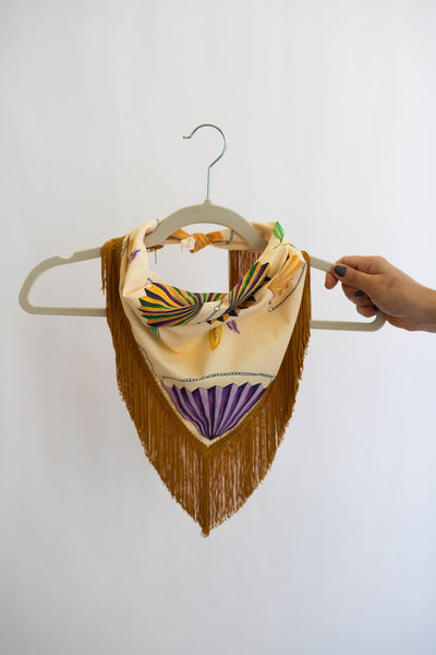 Mardi Gras Fringe Scarf in Yellow