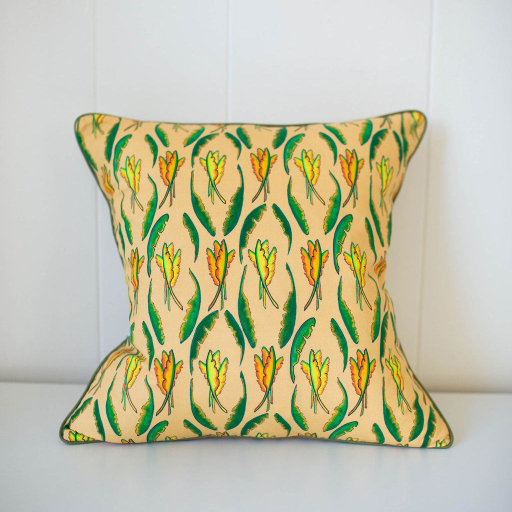 Banana Leaf Pillow in Sun