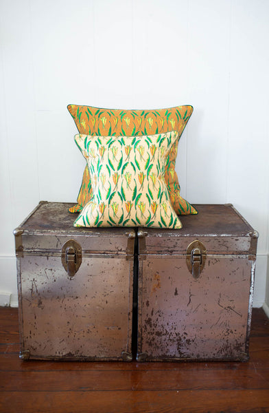 Banana Leaf Pillow in Toasted Sand