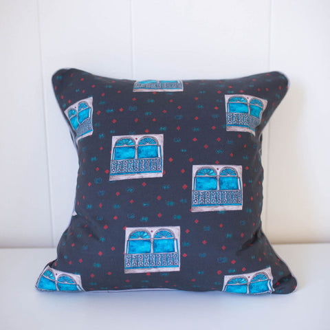 Uptown Windows Pillow in Charcoal