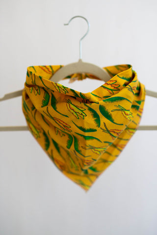 Banana Leaf Bandana in Goldenrod