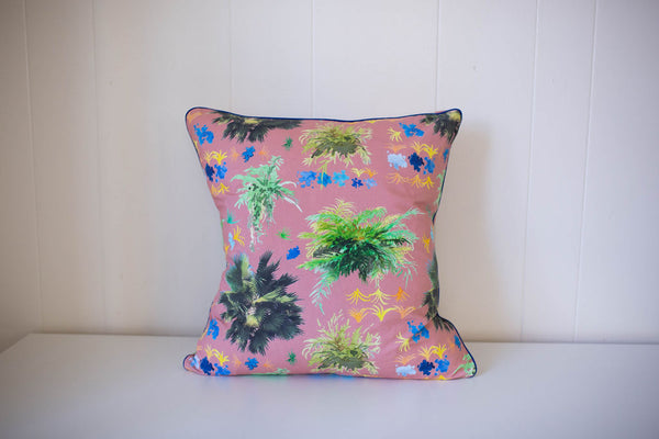 French Quarter Ferns Pillow in Mauve