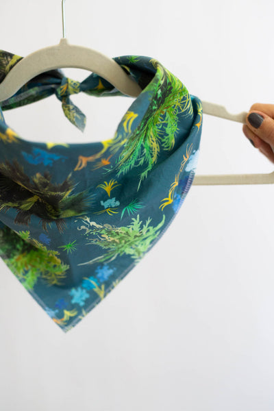 French Quarter Ferns Bandana in Blue
