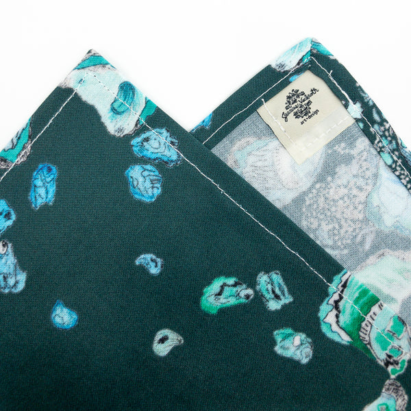 Oyster Tea Towel in Deep Teal