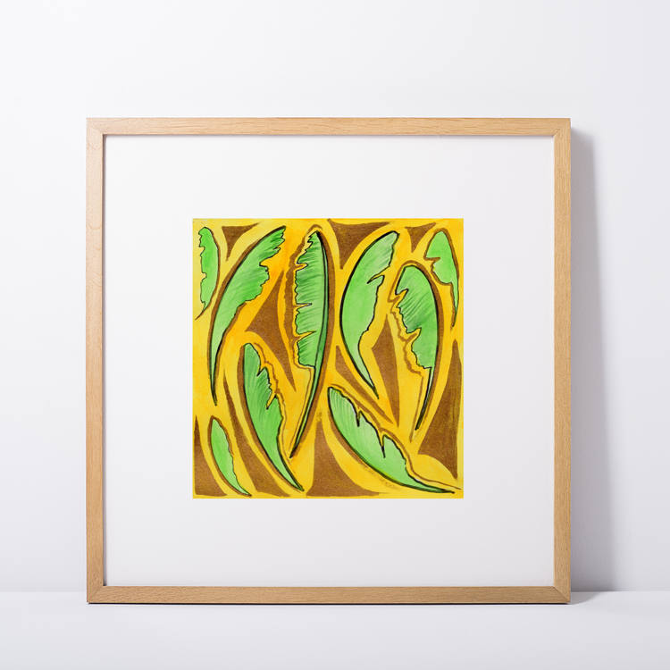 Banana Leaves in Green and Gold