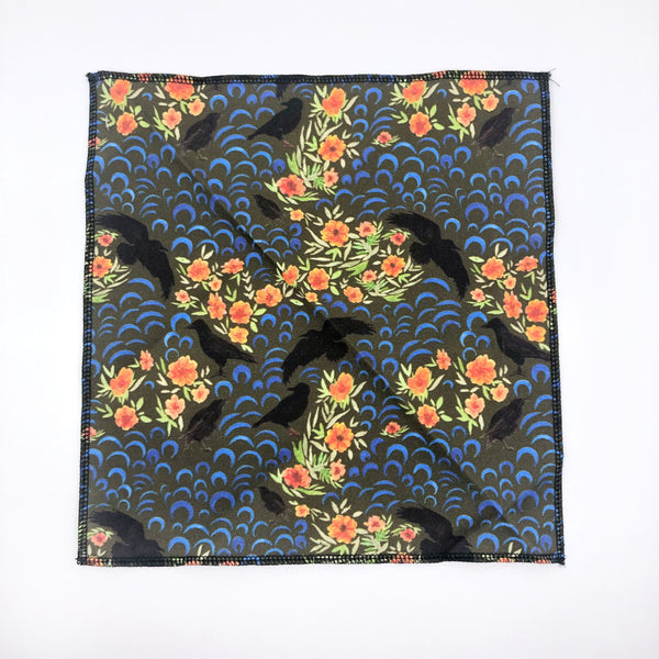 Gentleman's Pocket Square in Crow Pattern