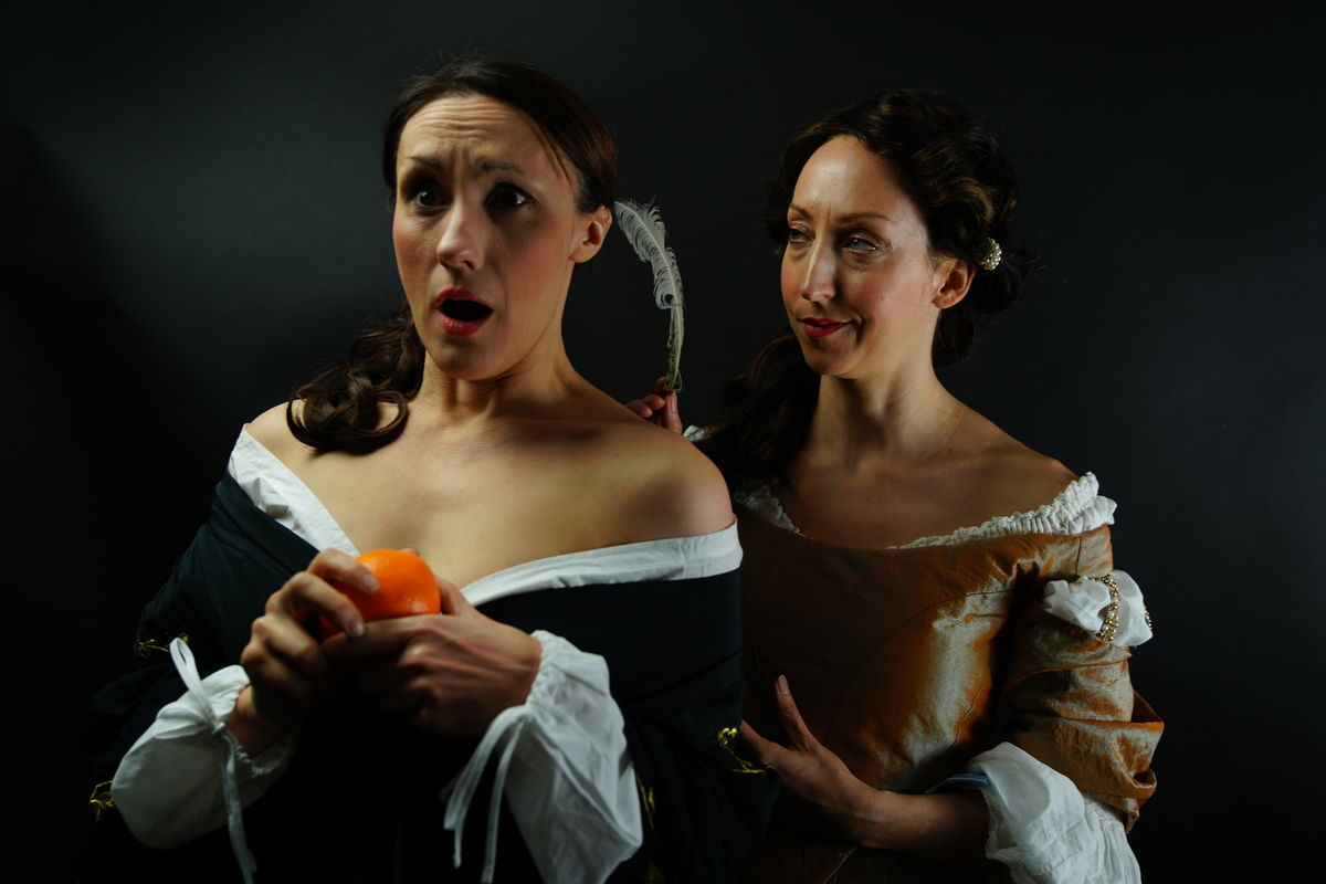 Oranges and ink, Claire and Sarah 1