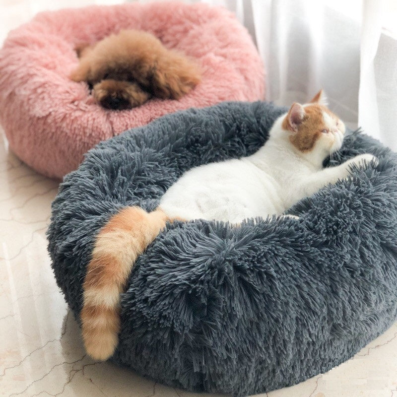Multicolor Cat/Dog Pet Bed Super Soft Warm Round Depth Super Cute Kennel