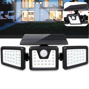 70 LED Solar Light Motion Sensor 3 Modes Wall Light Rotatable Outdoor Yard Garden Lamp