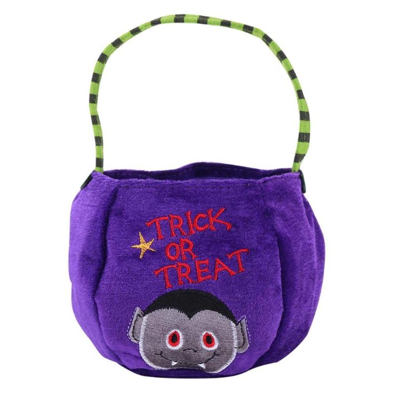 Halloween Trick or Treat Candy Bag Kids Sugar Holder Pouch Sacks Gift Bags