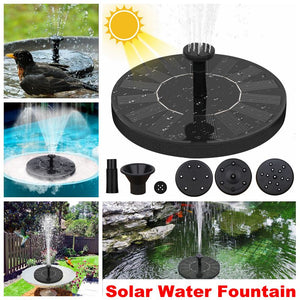 Solar Powered Fountain Floating Water Pool Pond Garden Decoration Outdoor Bird Bath