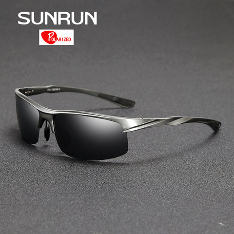 Men Driving Aluminum Polarized Sunglasses