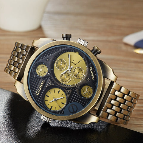 Sports Men Luxury Two Time Zone Watch