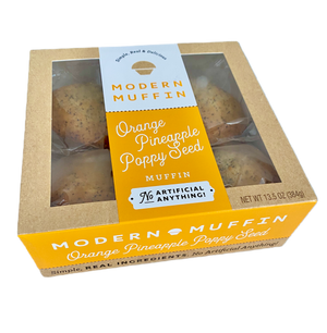 Orange Pineapple Poppy Seed Muffin (Box of 4)