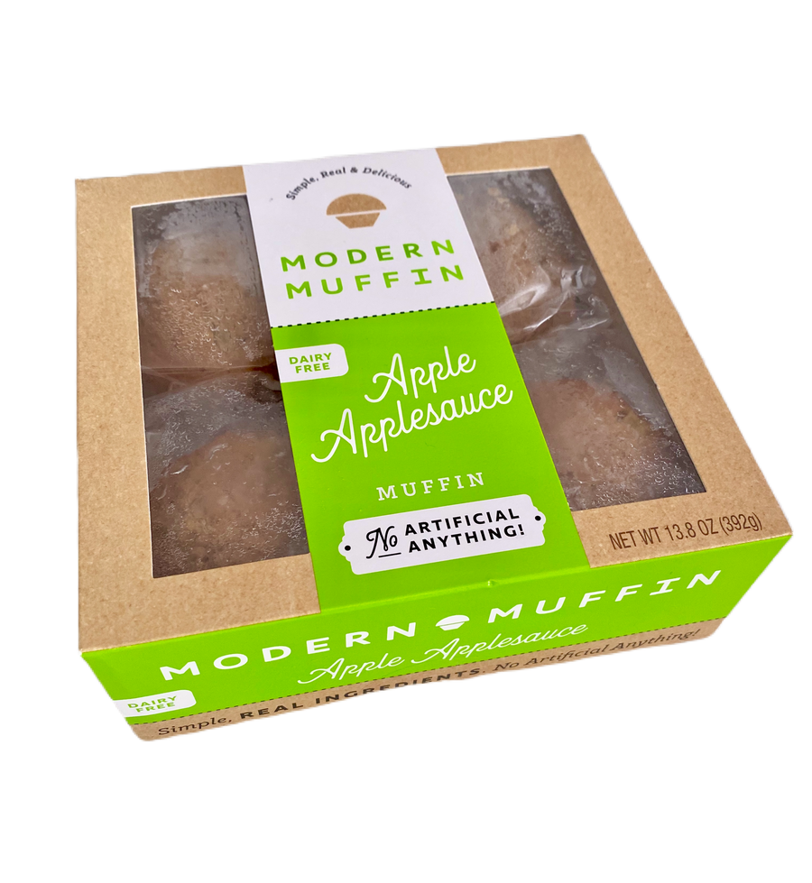 Apple Applesauce Muffin (Box of 4) - DAIRY-FREE