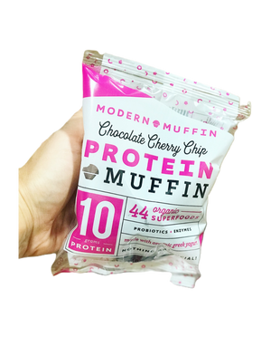 Chocolate Cherry Chip Protein Muffin (Box of 4)