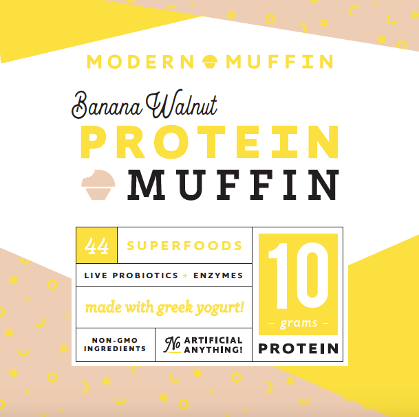 Banana Walnut Protein Muffin (Box of 4)
