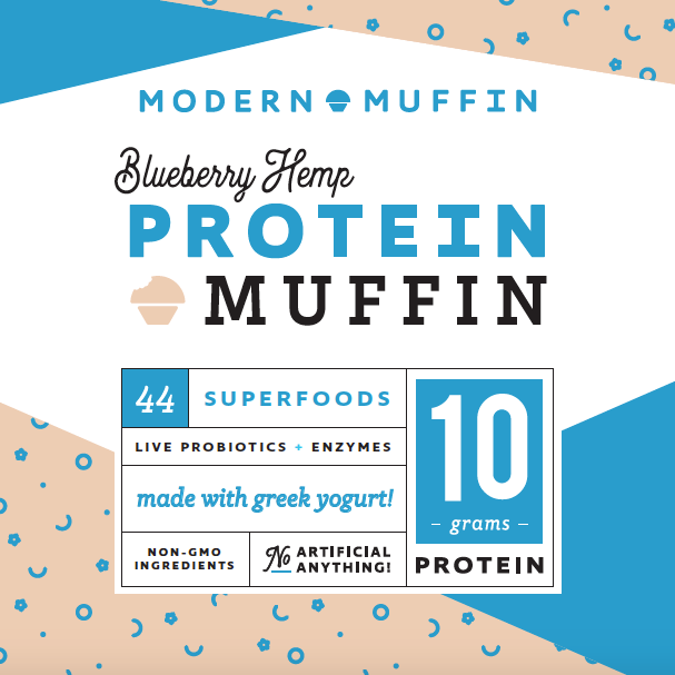 Blueberry Protein Muffin (Box of 4)