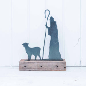 Shepherd with Sheep for 12-inch Nativity Set
