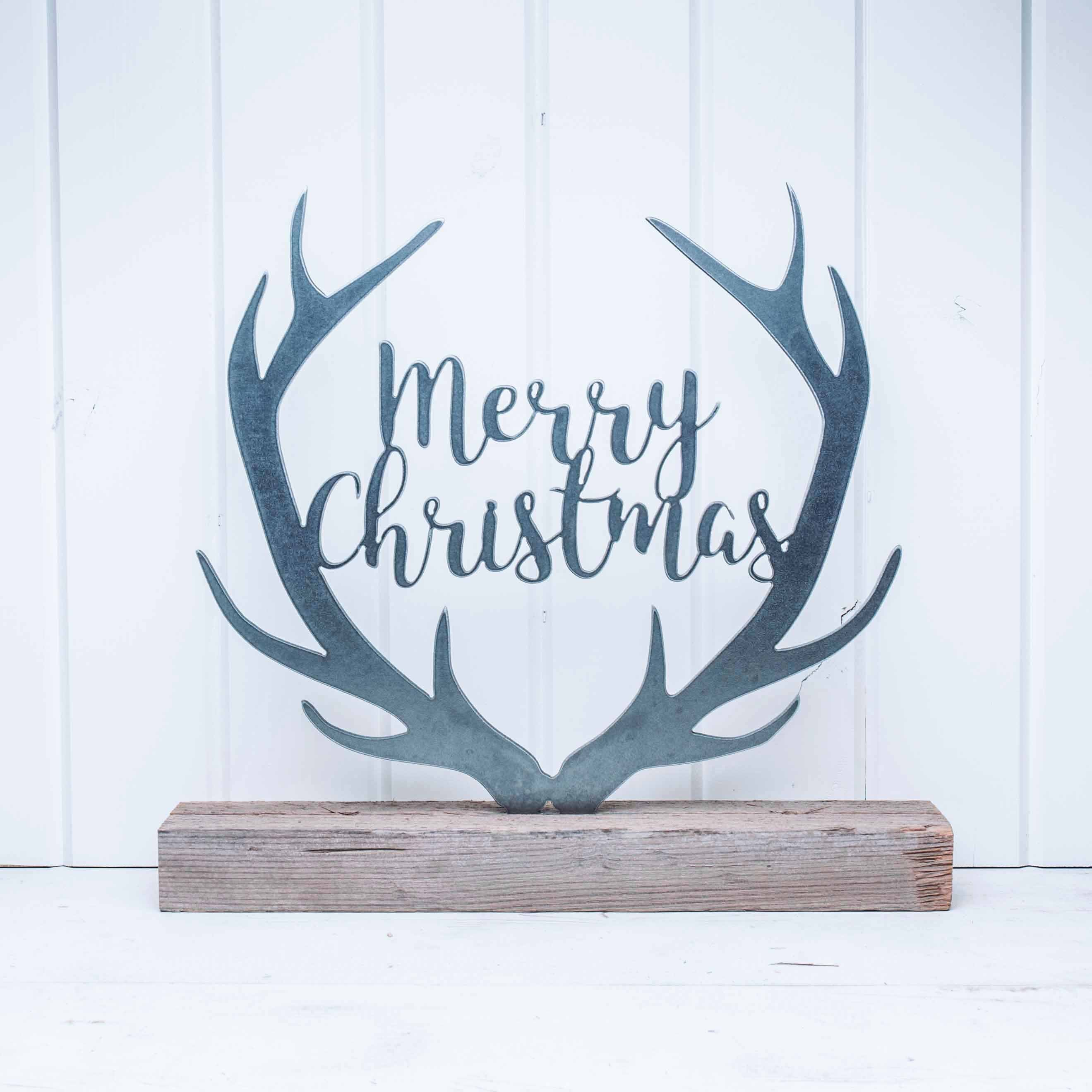 Merry Christmas With Antlers