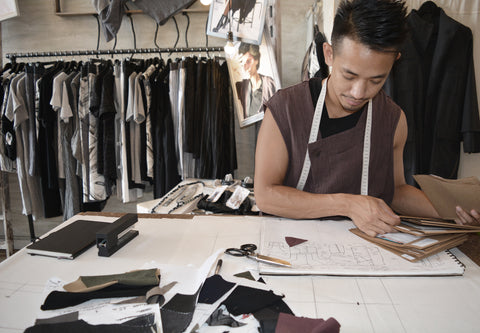 Designer Jude Ng at Work in the Studio