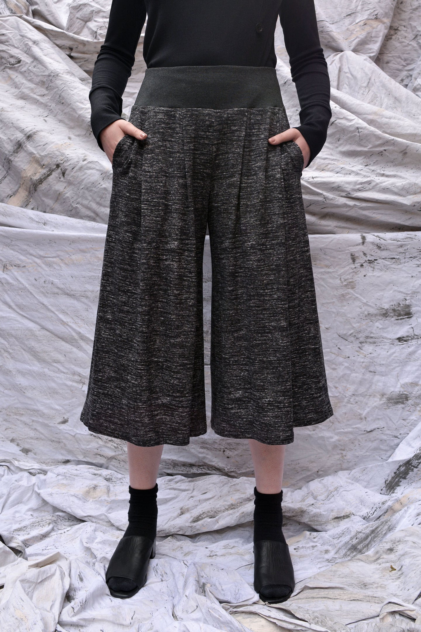 Flared Culotte Pants