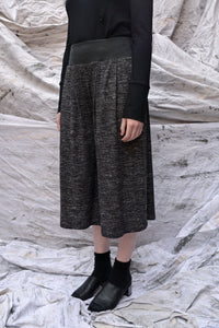 Flared Cropped Jersey Knit Pants
