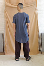 Load image into Gallery viewer, Italian Linen Men's Long Line Pocket Tee