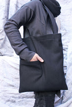 Load image into Gallery viewer, Unisex wool reversible tote bag