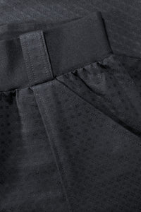Black Cotton Jacquard Dobby fabric