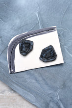 Load image into Gallery viewer, EDGES STUD EARRINGS - ONYX CHARCOAL