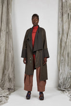 Load image into Gallery viewer, AW20 ADRIEL DRAPE COAT - DARK MOSS