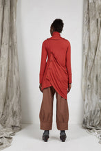 Load image into Gallery viewer, Hand made artisan bamboo knit draped tunic top