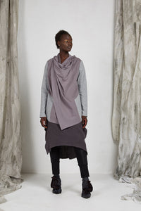 Unisex Waterfall Drape jacket in Viscose Ponti Knit