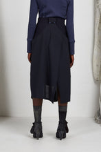 Load image into Gallery viewer, Unisex Layered Skirt with Button Off Drape panels in Italian Wool