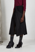 Load image into Gallery viewer, Black Unisex Layered Skirt with Button Off Drape panels with Pockets