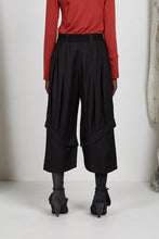 Load image into Gallery viewer, Unisex wide leg tailored ankle length pant in Italian viscose