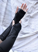 Load image into Gallery viewer, FINGERLESS  GLOVES - ONYX