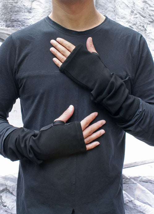 Unisex ingerless gloves
