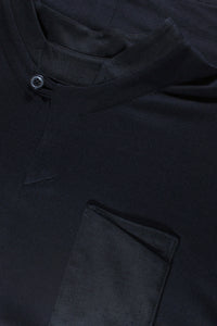 Black Italian Viscose Jersey Shirt