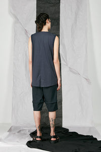 Men's Organic Cotton and Tencel  Sleeveless Shirt