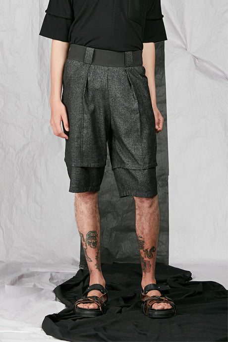 Men's Unisex Tailored Wool Shorts