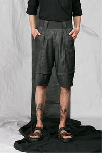Men's Unisex Tailored Charcoal Wool Shorts