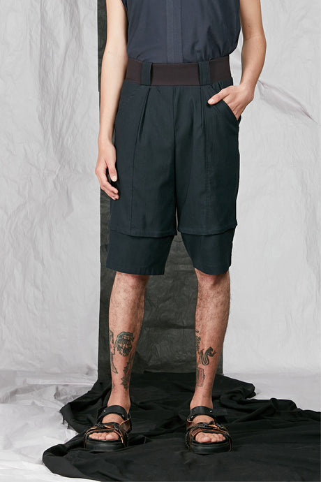 Men's Unisex Tailored Stretch Indigo Shorts
