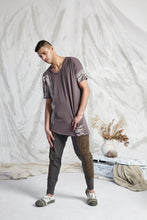 Load image into Gallery viewer, HEDI LONG LINE POCKET TEE - BARK RECOLLECTIONS PRINT