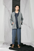 Load image into Gallery viewer, Crinkled Linen Unisex Kimono Zip Jacket