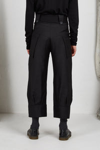 Italian viscose high waist tailored unisex pant